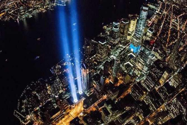 9/11 Memorial from the air