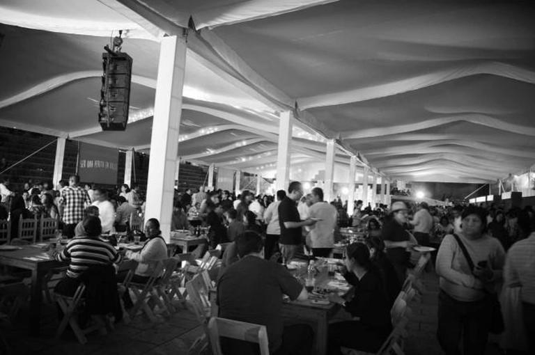 The 'Cena de Inauguración' (opening dinner) of the festival I © Maya Sankey Black