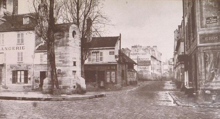 Rue Poliveau, 5th arrond, pre-Haussmann | © Charles Marville/WikiCommons