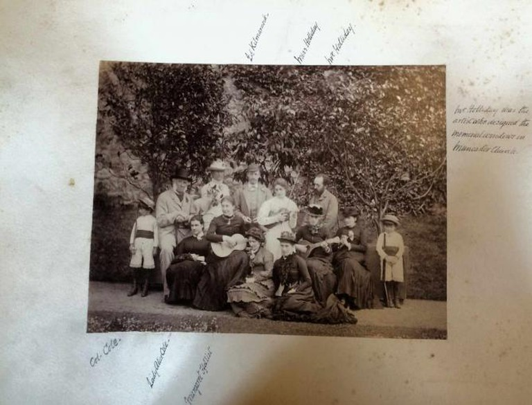 Katherine Holiday and Henry Holiday with the Pennington family at Muncaster Castle courtesy of the Muncaster Castle Archive