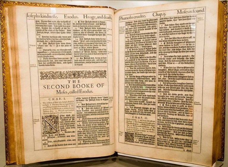Original King James Bible, at the Harry Ransom Center