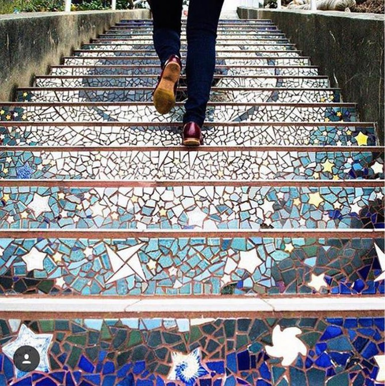 Mosaic Stairs © nowrongwaysf