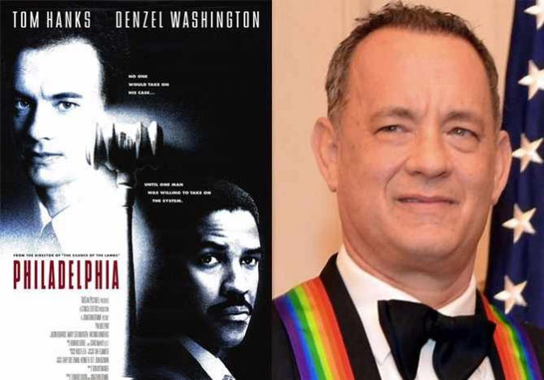 Film Poster for Philadelphia and Tom Hanks, 2014 | © TriStar Pictures/WikiCommons, © U.S. Department of State/WikiCommons