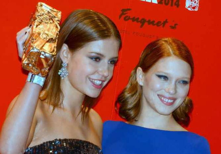 Léa Seydoux and Adèle Exarchopoulos at the Césars 2014 | © Georges Biard/WikiCommons
