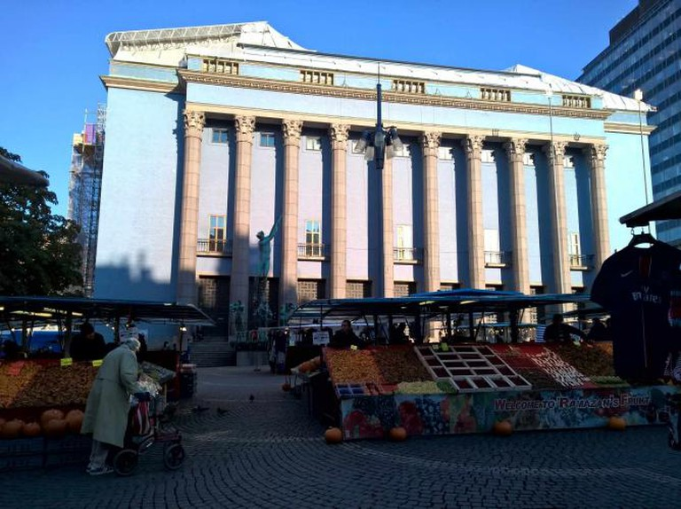 Stockholm's Concert Hall and market  | © Robert Hugill
