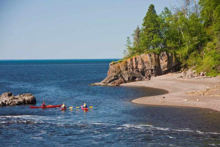 Kayaking at Lutsen and Tofte | Courtesy of Visit Cook County