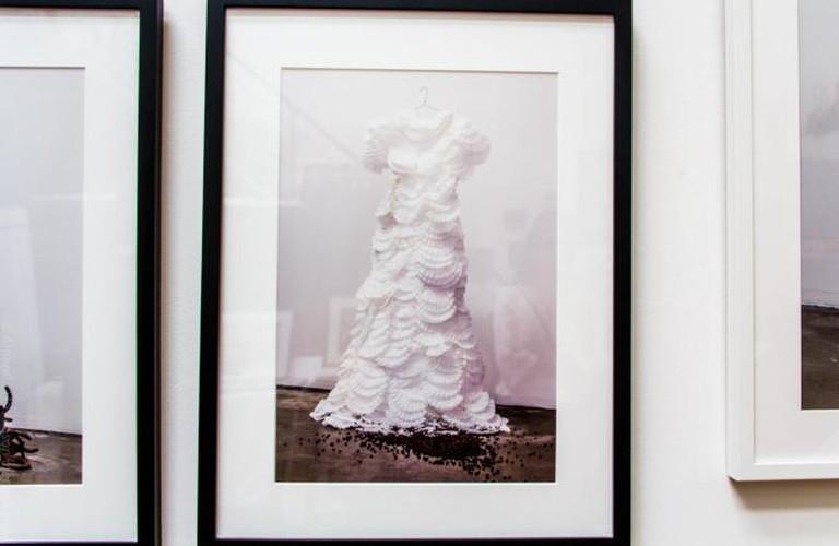 Jane Szabo's photo of a dress made of coffee filters | © Amanda Hoskinson/mediamandy