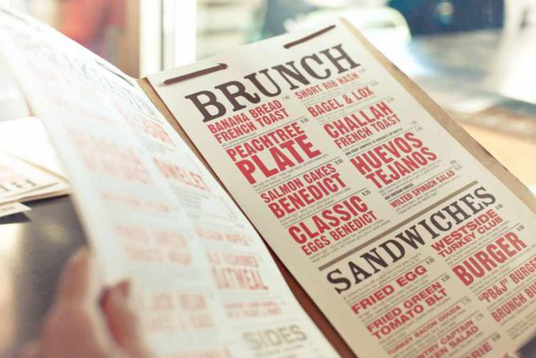 Brunch menu © Basheer Tome/Flickr