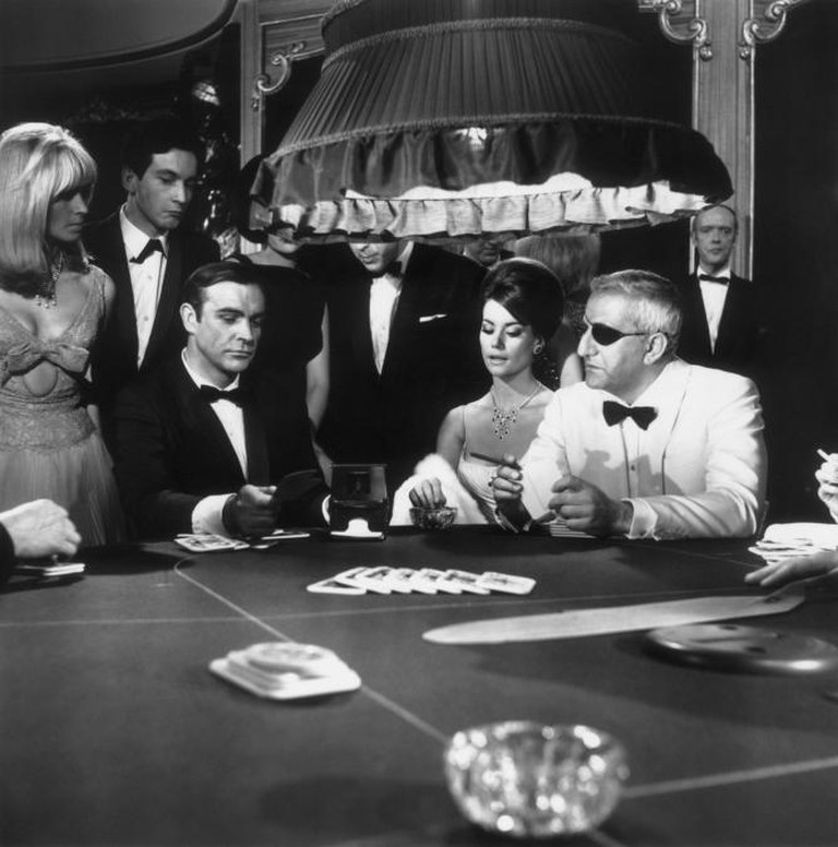 A scene from the James Bond film 'Thunderball' with Sean Connery, Claudine Auger and Adolfo Celi   Courtesy of Everyman Theatre and Getty Images.