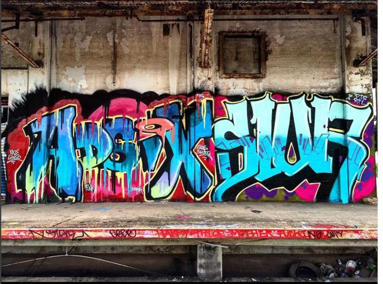 Some of the most colorful graffiti hides in the darkest of places.