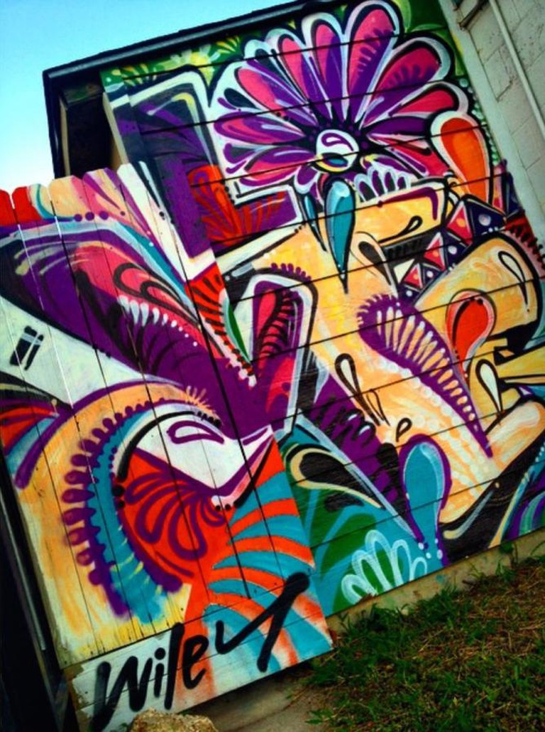 Spreading the love for this colorful piece by Wiley.