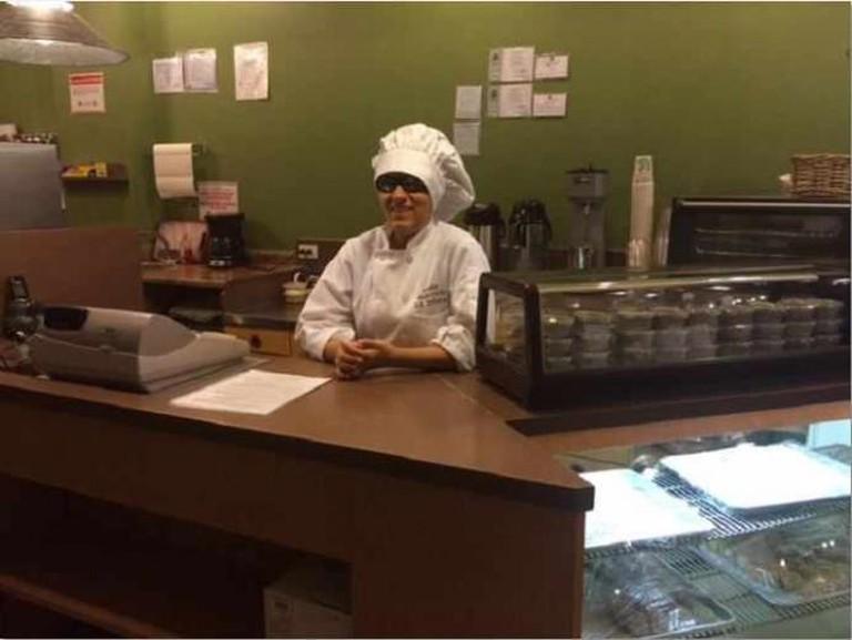 Laura Martinez behind La Diosa counter | Courtesy of Laura Martinez
