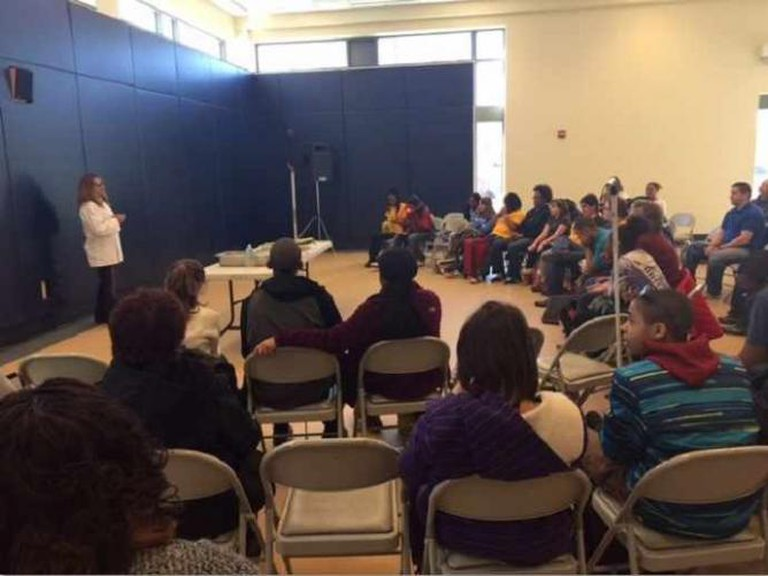 Martinez speaking at the Maryland School for the Blind | Courtesy of Laura Martinez