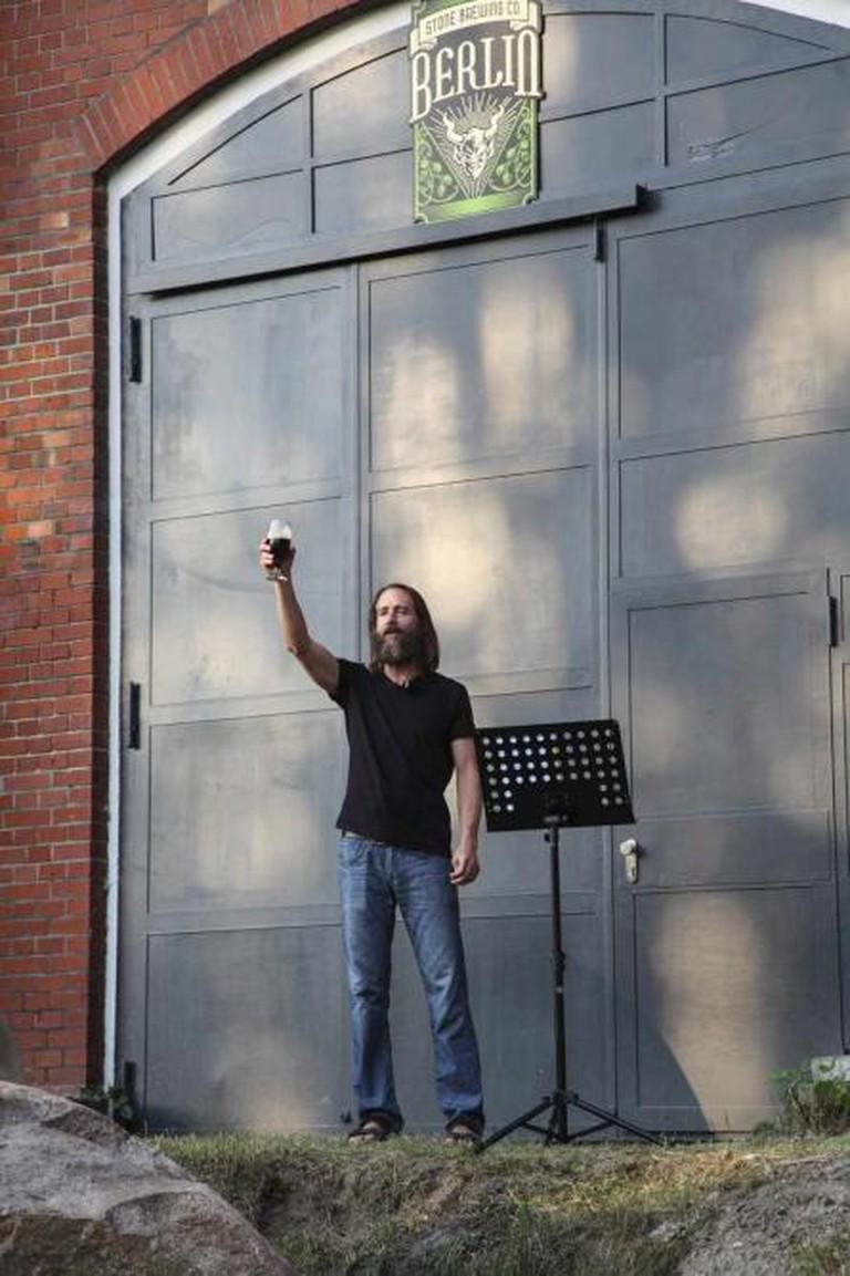 Greg toasts to the good news
