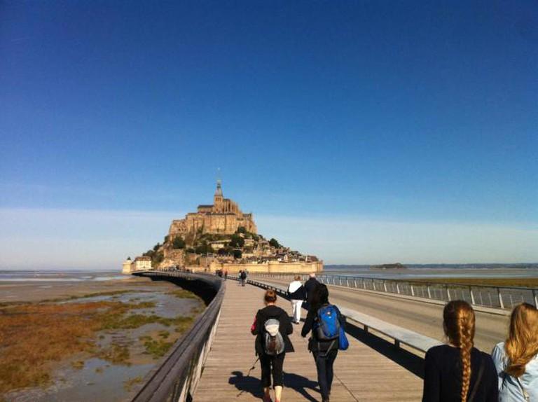New bridge walk to Mont-Saint-Michel | Courtesy of Hayley Ricketson