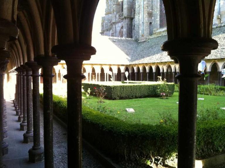 Garden in Mont-Saint-Michel Abbey | Courtesy of Hayley Ricketson