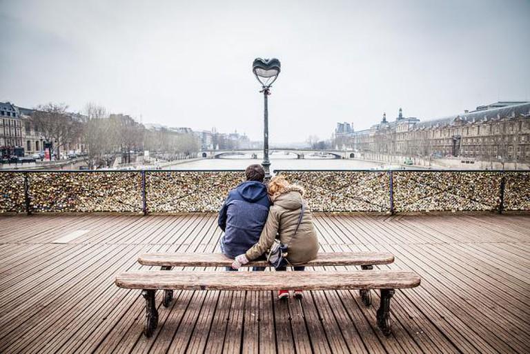 Love on the Pont Des Arts | ©Andrés Nieto Porras/WikiCommons