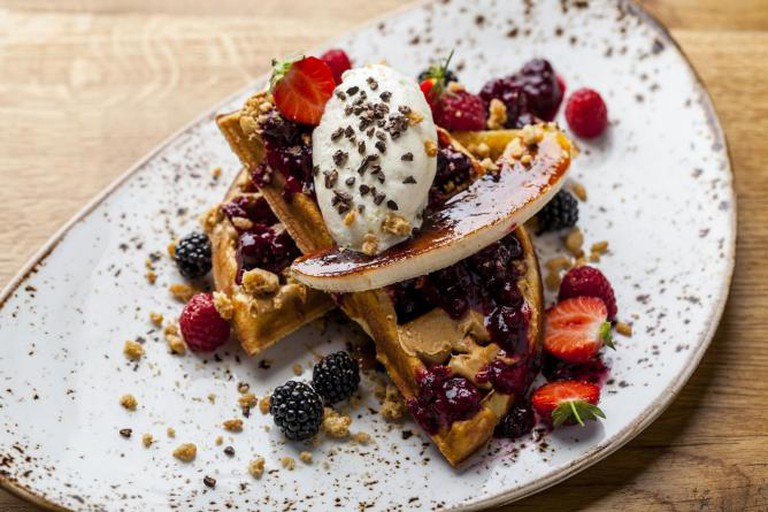 Duck & Waffle's Full Elvis waffle   © Ming Tang-Evans