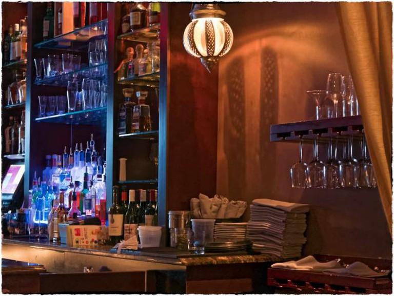 Indeblue's bar hosts a fantastic happy hour