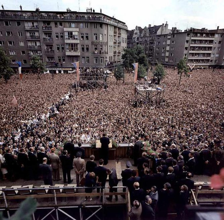 JFK speech Ich bin eine Berliner | © Robert Knudson/Wikicommons