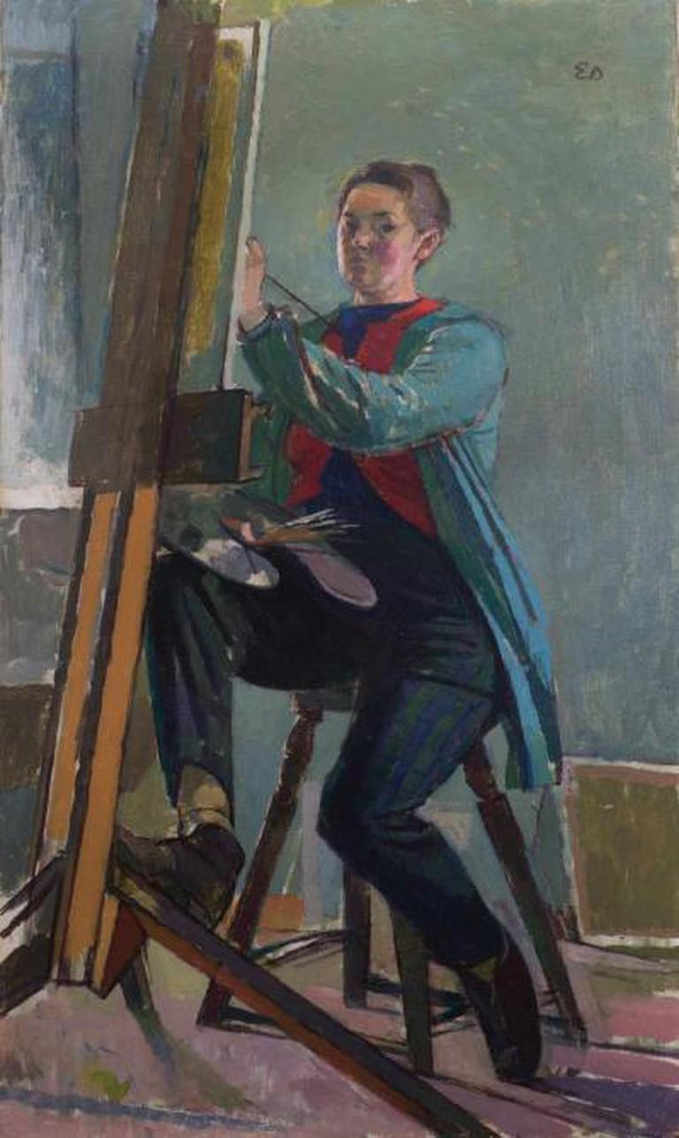 Evelyn Dunbar - Self-portrait (no date, post-1945)   The Artist's Estate, courtesy of Liss Llewellyn Fine Art
