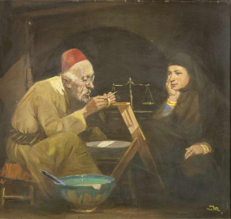 The Goldsmith by Faeq Hassan (Iraq 1914-1992) |Courtesy of Bonhams