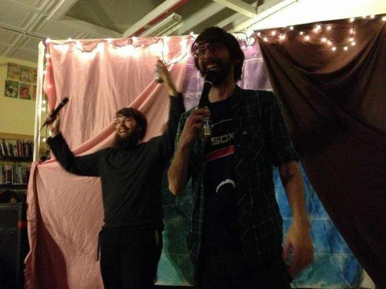 Yeah Buddy stage | courtesy of The Yeah Buddy Awesome Time Comedy Show