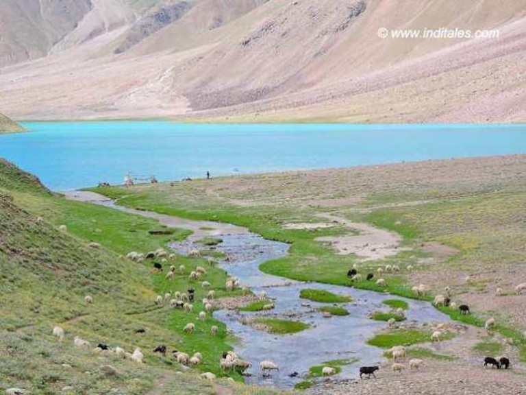 Chandratal Lake in the Lahaul-Spiti Valley | © Anu Goyal