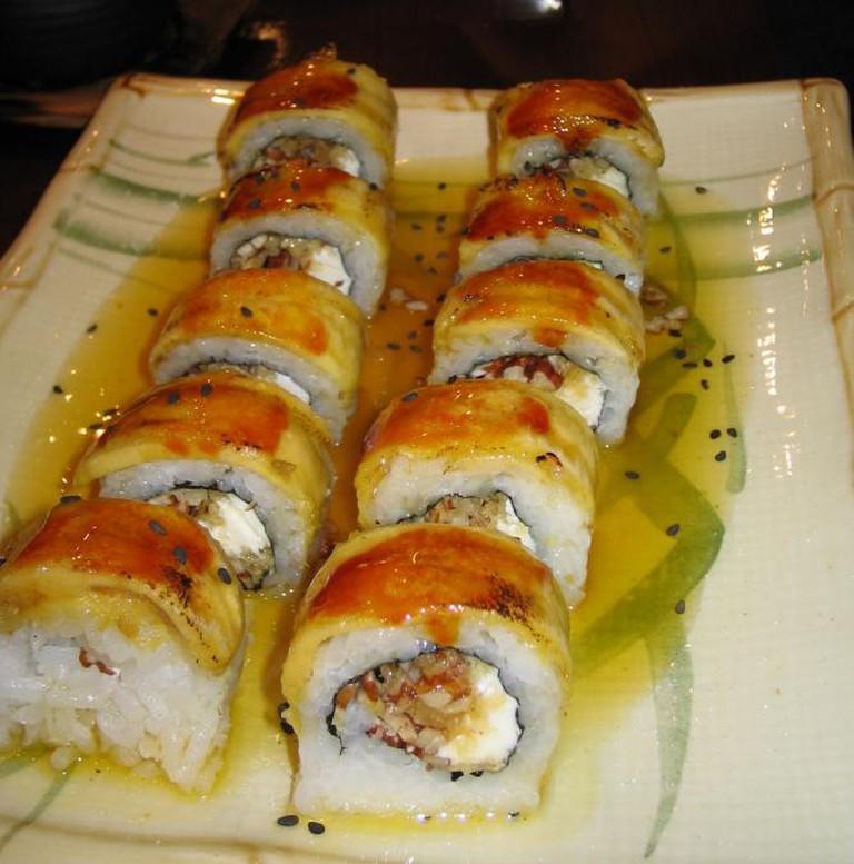 Sweet Dessert Sushi at Edo, Lima