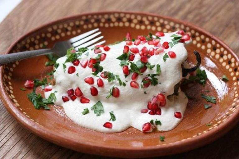 Chila en Nogada | courtesy of Habañero's Gastro Grill