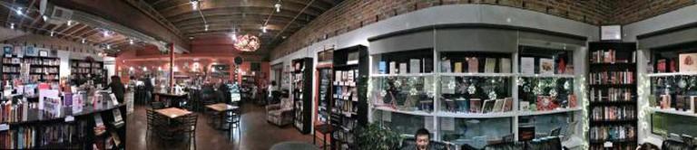 A panoramic view of BookBar.