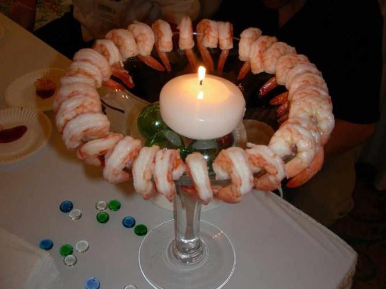Fine shrimp in Old Town, Albuquerque