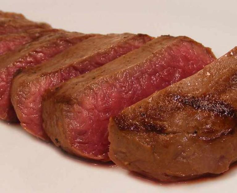 Juicy steak in Old Town, Albuquerque