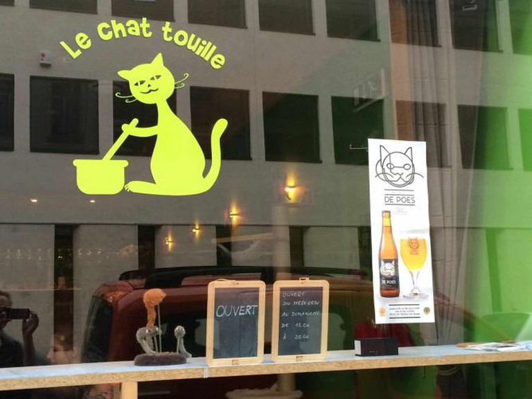 Front of the Café - Courtesy of Le Chat Touille