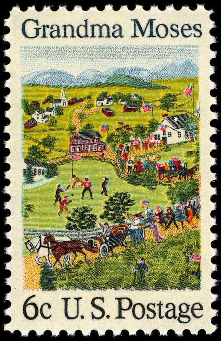 1969 stamp honoring Grandma Moses | © Gwillhickers/Wikimedia Commons