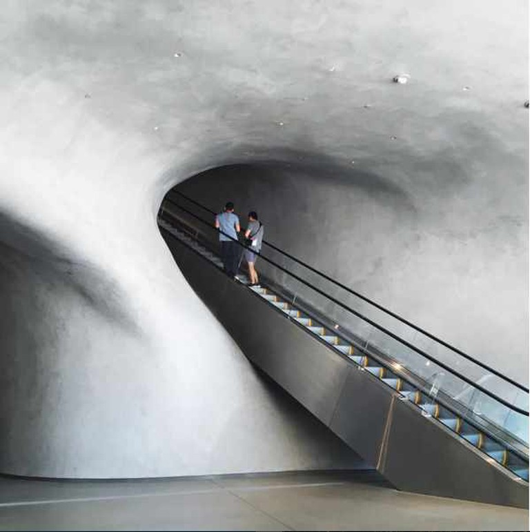 A cavelike interior in the newly opened Broad Museum in downtown Los Angeles | Courtesy of Andrew Oxenham