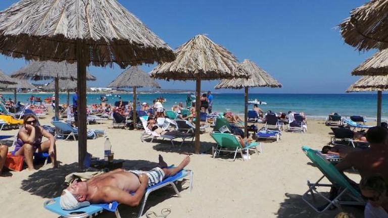 The organised beach of Santa Maria