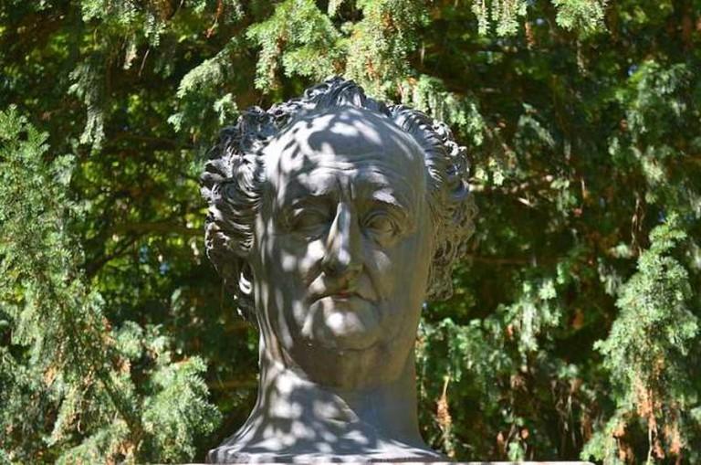 Bust of Goethe at Heidelberg Castle