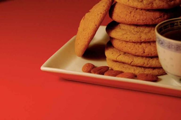 green tea almond cookies   © jacqueline/Flickr
