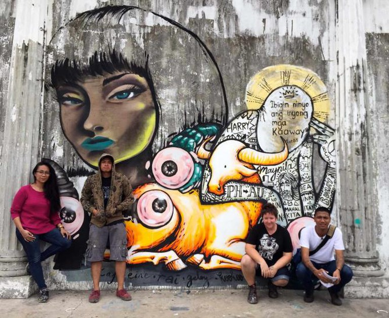 Kaff-eine painting with Geloy in Manila 2015 | Courtesy of Articulate PR