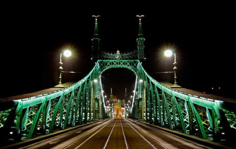 Freedom-bridge over the Danube