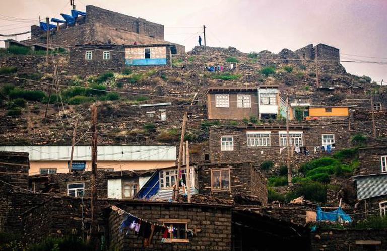 Xinalig village stone houses | © Ioanna Sakellaraki