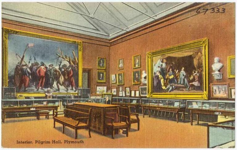 Interior, Pilgrim Hall, Plymouth © Boston Public Library/flickr