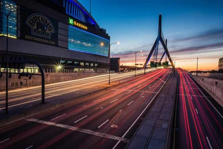 Zakim Bridge and the TD Garden © Robbie Shade