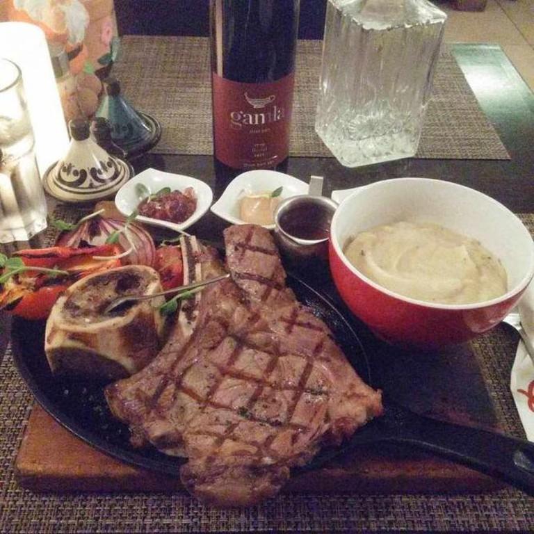 The Prime Rib Steak at Olla I Yehudah Jacobs