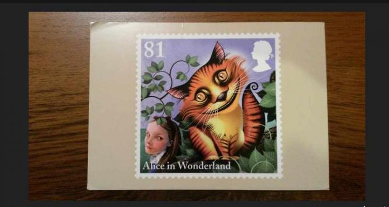 An Alice stamp by Grahame Baker Smith   © Alicja/Flickr
