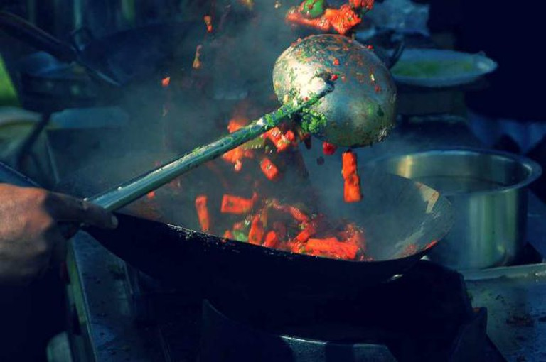 Wok Cooking | © Jan van der Crabben/WikiCommons