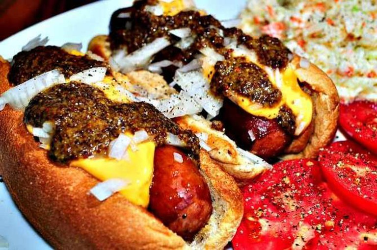 Mmm...dogs with cheese sauce | © jeffreyw/Flickr