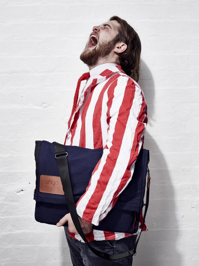Felix modelling the Ohyo bag | Courtesy of Alexander PR & Communications © Ohyo