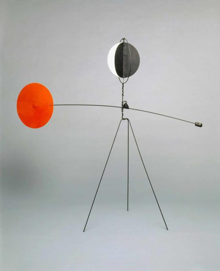 Red and Yellow Vane, 1934, sheet metal, wire, lead, and paint, 175.26 x 203.2 x 71.12 cm, Calder Foundation, New York, NY, USA l Courtesy of the Calder Foundation, New York / Art Resource, NY © ARS, NY and DACS, London 2015